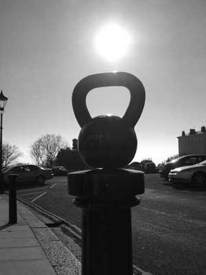 sunset kettlebell